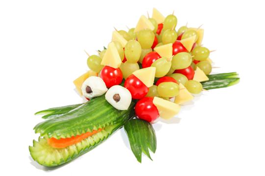 gezonde krokodil van fruit